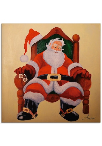 Artland Glasbild »Schlafender Weihnachtsmann« kaufen