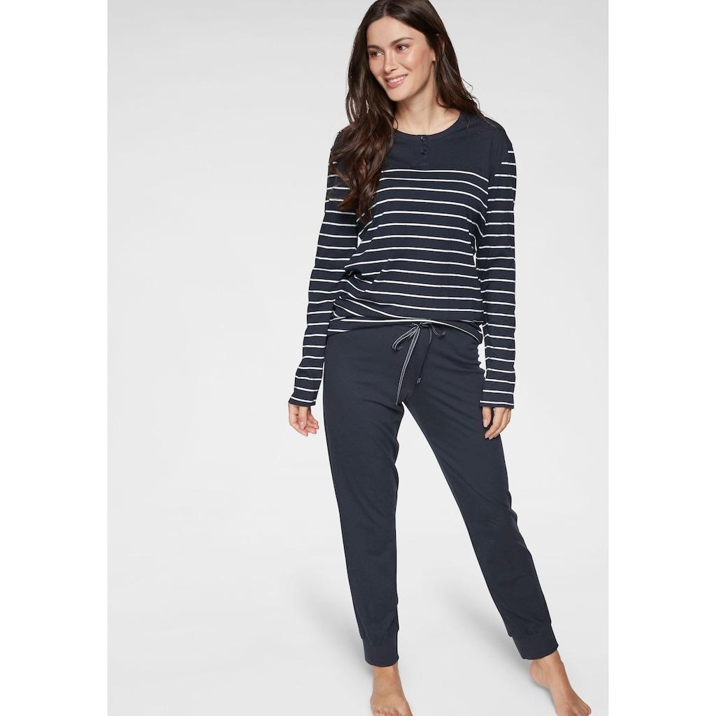 Schiesser Pyjama, mit klassischen Streifen