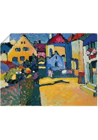 Artland Wandbild »Grüngasse in Murnau. 1909«, Europa, (1 St.), in vielen Größen &... kaufen