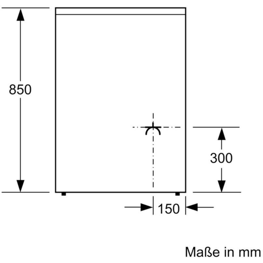 BOSCH Elektro-Standherd »HKR39C250«, 4, HKR39C250, mit 2-fach-Teleskopauszug, ecoClean Direct