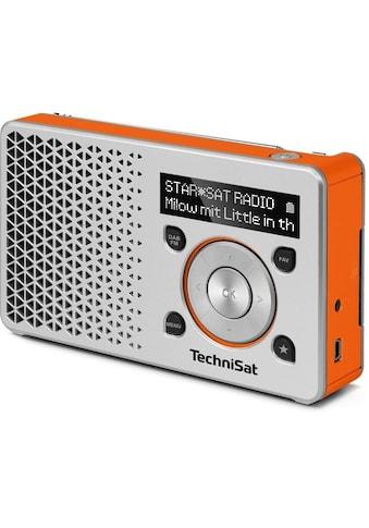 TechniSat Digitalradio (DAB+) »DIGITRADIO 1 silber/orange«, (Digitalradio (DAB+) 1 W),... kaufen