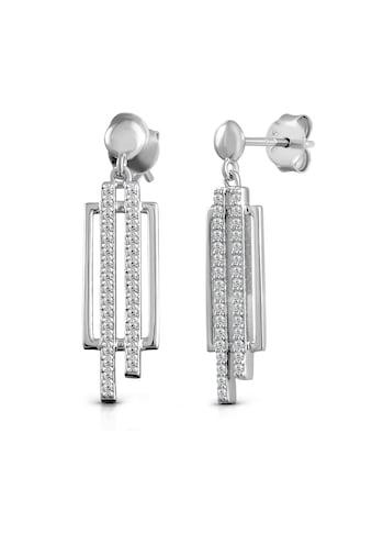 Vivance Paar Ohrhänger »925/- Sterling Silber rhodiniert Zirkonia«, mit Geschenketui kaufen