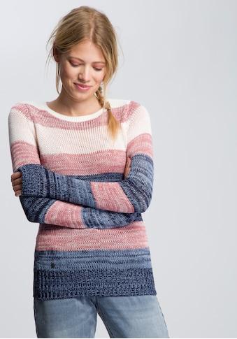 KangaROOS Strickpullover, im mehrfarbigen Streifen-Design kaufen