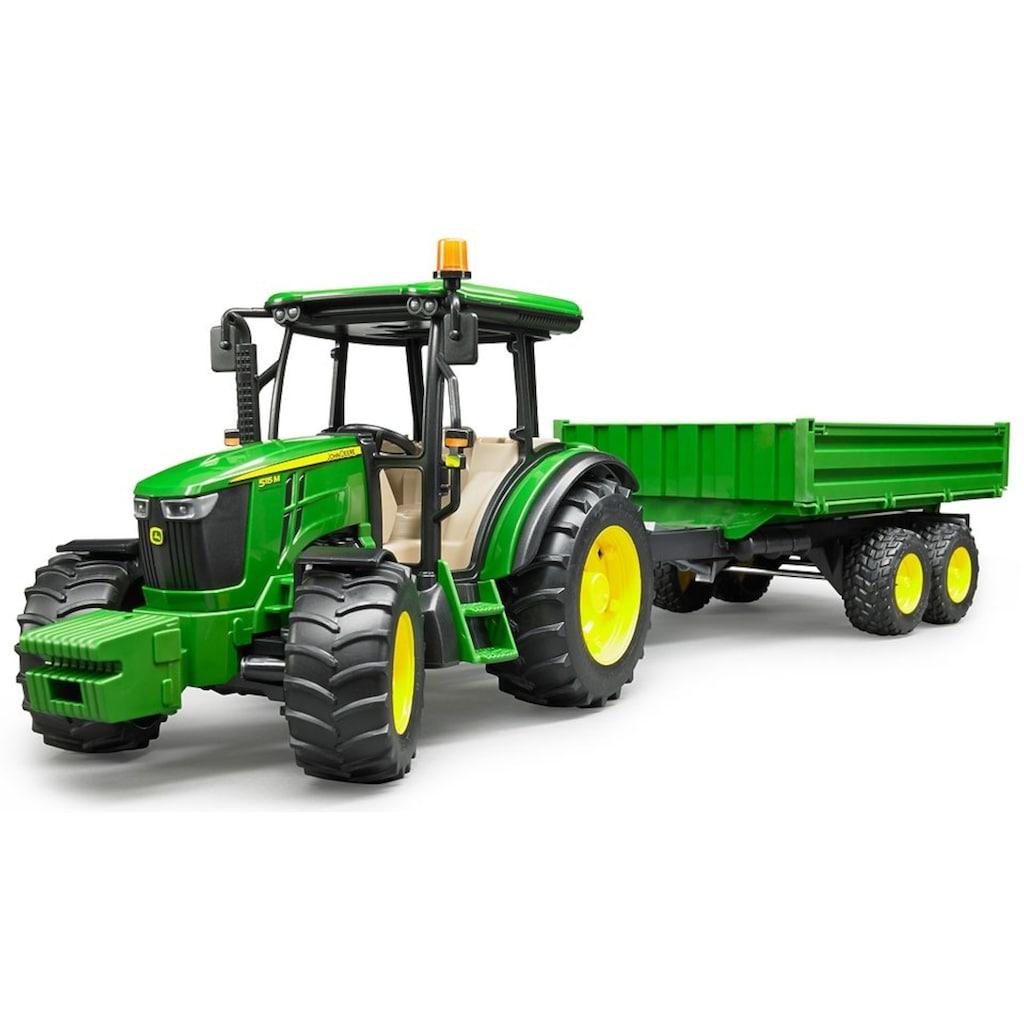 Bruder® Spielzeug-Traktor »John Deere 5115M mit Bordwandanhänger«, mit Anhänger, Made in Germany