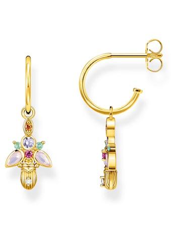 THOMAS SABO Paar Creolen »Käfer gold, CR651-488-7«, mit abnehmbaren Einhängern, synth.... kaufen