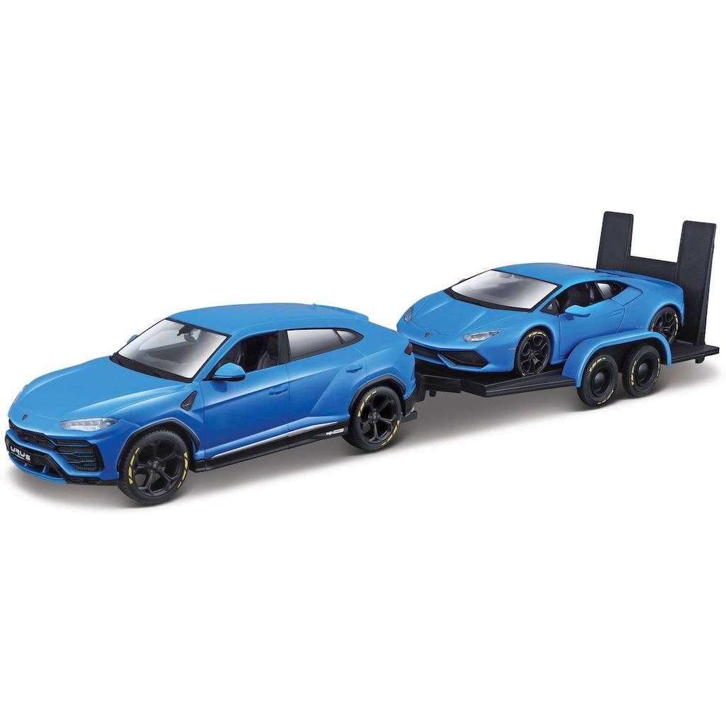 Maisto® Sammlerauto »Elite Transporter Lamborghini Urus«, 1:24, mit Anhänger und Huracàn Coupè