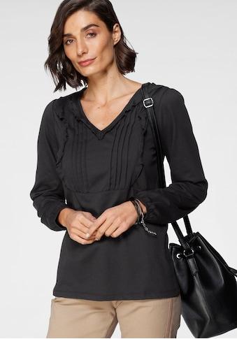 Boysen's V-Shirt, mit romantischen Details kaufen