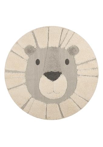 Kinderteppich, »Lion Lucky«, Zala Living, rund, Höhe 22 mm, maschinell gewebt kaufen