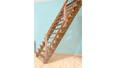 STARWOOD Massivholztreppe »Lindos«, B: 80 cm, gerade Ausführung, Geländer rechts kaufen