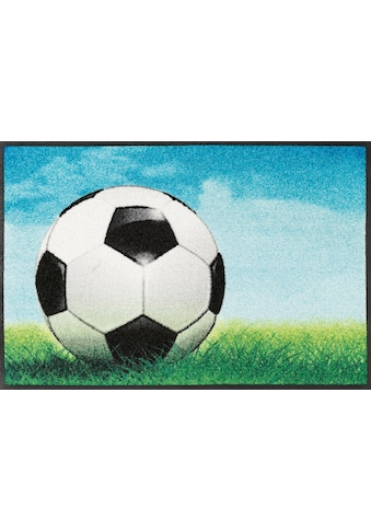 wash+dry by Kleen-Tex Fußmatte »Fußball«, rechteckig, 7 mm Höhe, Fussabstreifer,... kaufen