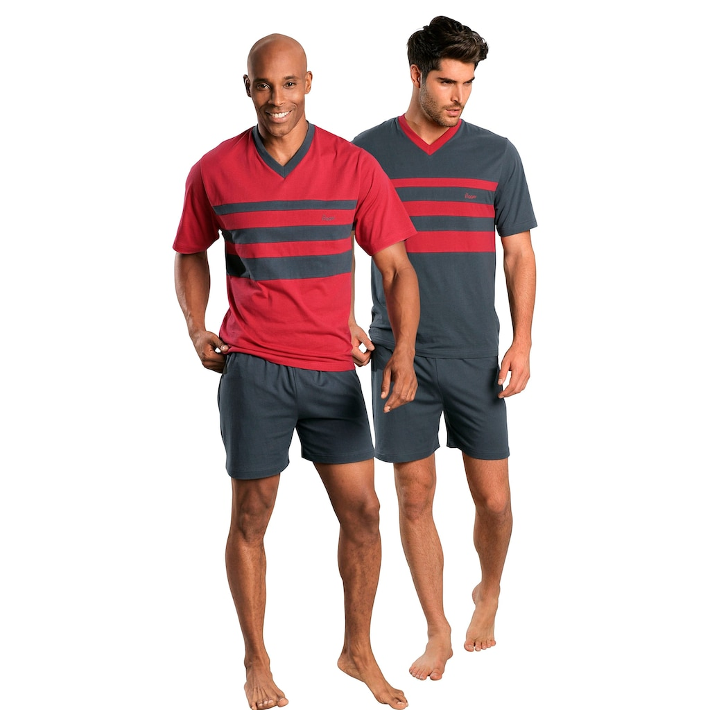 le jogger® Shorty, (2 Stück), mit Colourblocks