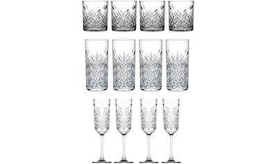 van Well Gläser-Set »Timeless«, (Set, 12 tlg.), Strukturglas, 12-teilig kaufen
