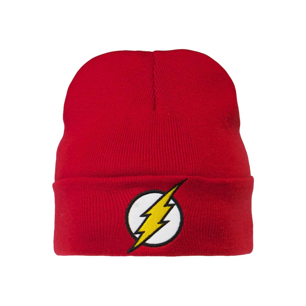 LOGOSHIRT Strickmütze, mit originalem The Flash-Logo