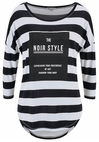 Aniston CASUAL 3/4-Arm-Shirt, Mit Statement Schriftzug kaufen