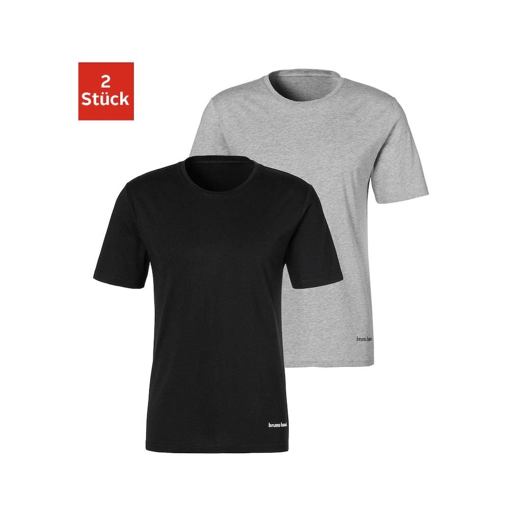Bruno Banani T-Shirt, mit kleinem Logodruck am Saum
