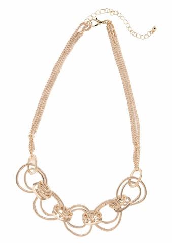 J.Jayz Collier »goldfarben mit eingehängter Ringzierde, mehrreihig«, (1 tlg.) kaufen