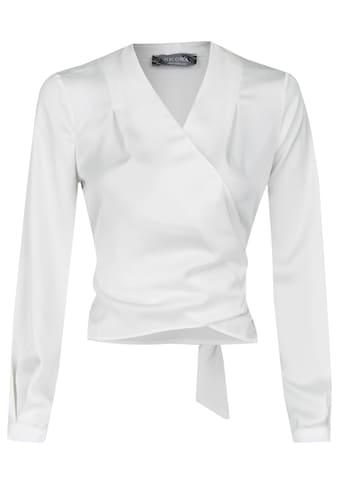 Nicowa Wickel - Bluse mit Rücken - Schleife und V - Ausschnitt  -  NOMAR kaufen
