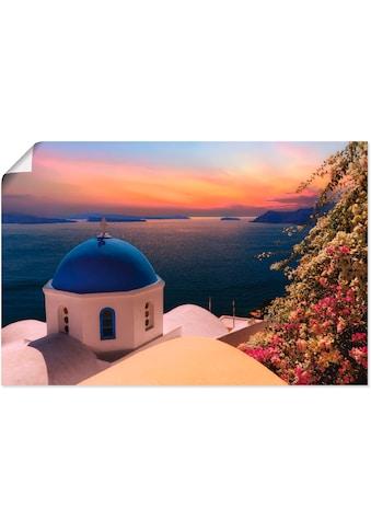 Artland Wandbild »Santorini«, Gewässer, (1 St.), in vielen Größen & Produktarten -... kaufen
