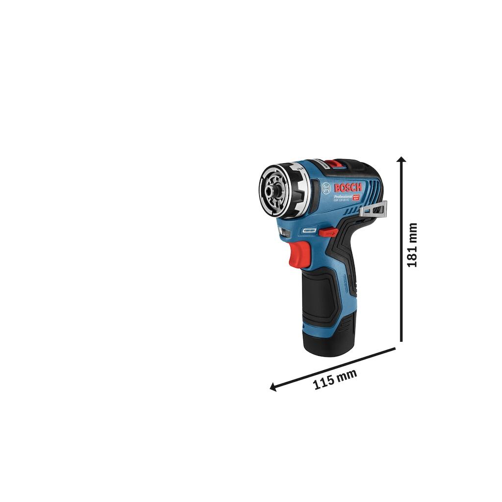 Bosch Professional Akku-Bohrschrauber »GSR 12V-35«, inkl. Koffer und Flexi-Click Aufsätze, ohne Akku und Ladegerät