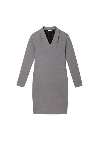 Sandwich Jacquard-Kleid mit hohem V-Ausschnitt kaufen