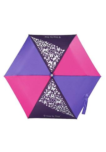 Step by Step Regenschirm Mädchen Kinder Taschenschirm Lila Rosa kaufen