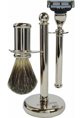 Golddachs Rasierset, mit Rasierer (Mach3) und Pinsel kaufen
