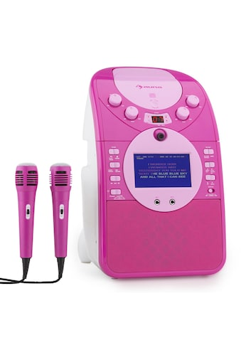 Auna Karaokeanlage Kamera CD Player USB SD MP3 inkl. 2 Mikrofone »Screen Star« kaufen