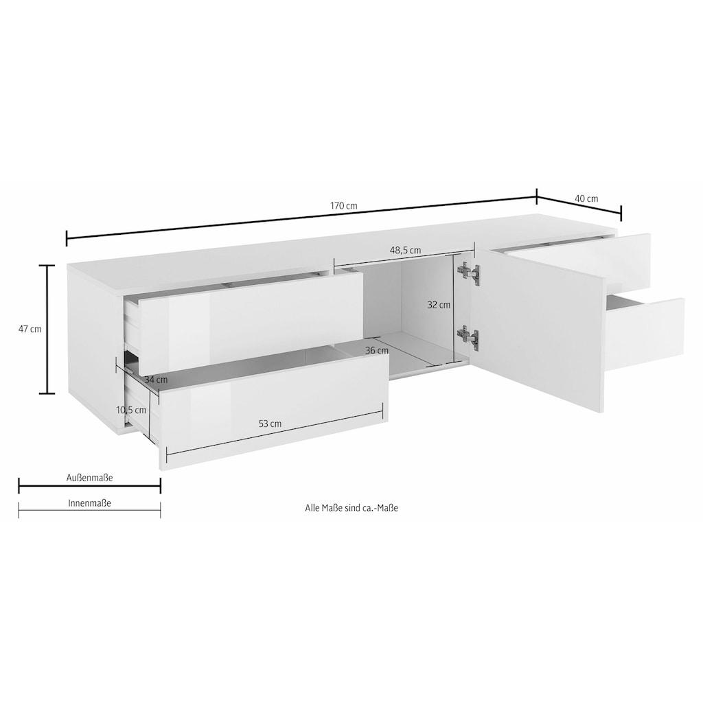 Tecnos Lowboard »Metis«, Breite 170 cm