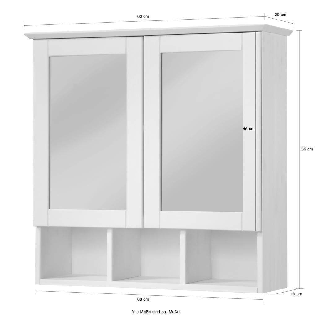 welltime Spiegelschrank »Landhaus Sylt«, Breite 60 cm, aus Massivholz