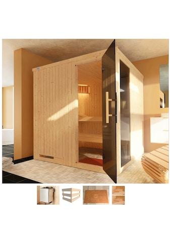 WEKA Sauna »Halmstadt«, 194x177x199 cm, 5,4 kW Ofen mit int. Steuerung kaufen