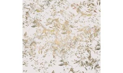 Komar Fototapete »Golden Feathers«, floral-schimmernd-Silber-Optik kaufen