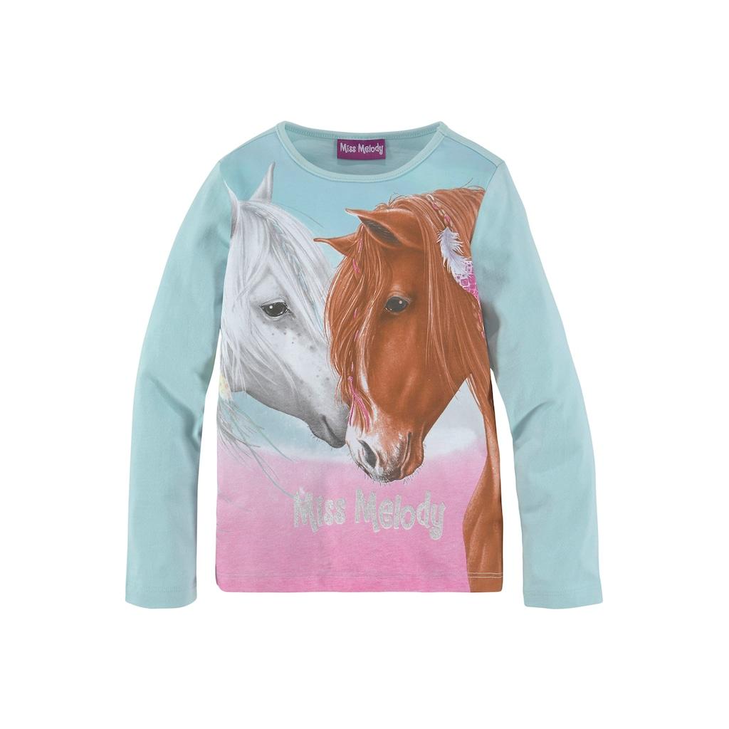 Miss Melody Langarmshirt, für Pferde-Fans