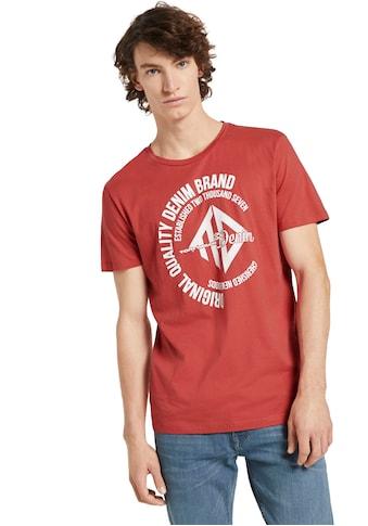 TOM TAILOR Denim T-Shirt, mit Logo-Frontprint kaufen