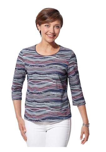 Casual Looks Shirt mit paspeliertem Rundhals - Ausschnitt kaufen