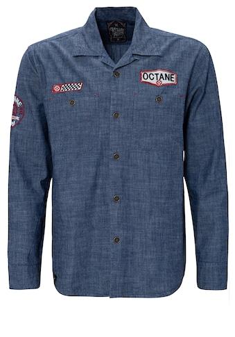 KingKerosin Langarmhemd »Octane«, mit Stickereien kaufen