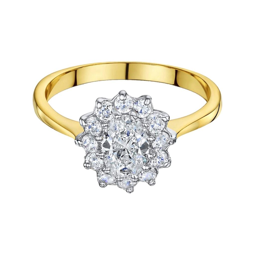 Buckley London Ring vergoldet mit Zirkonia