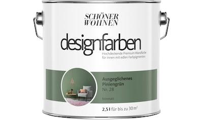 SCHÖNER WOHNEN FARBE Farbe »Designfarben«, Ausgeglichenes Piniengrün Nr. 28, feinmatt 2,5 l kaufen