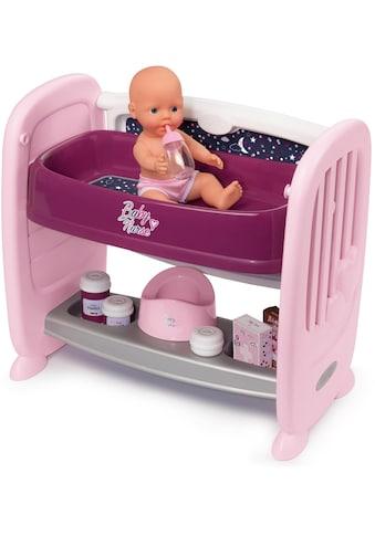 Smoby Puppenbett »Baby Nurse Puppen-Beistellbett«, zum Wickeltisch umbaubar; Made in... kaufen