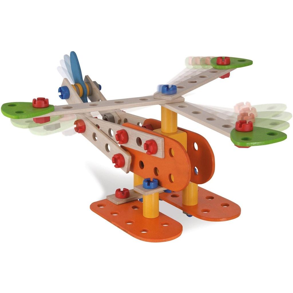 Eichhorn Konstruktionsspielsteine »Constructor Flugzeug«, (90 St.), Made in Germany, FSC®-Holz aus gewissenhaft bewirtschafteten Wäldern