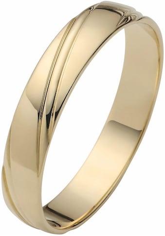 Firetti Trauring mit Gravur »4,0 mm, glanz, Diamantschnitt, Gelbgold« kaufen