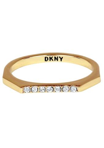 DKNY Fingerring »NYC Skinny Pave RG (GL), 5548758, 5548759, 5548760«, mit Swarovski®... kaufen