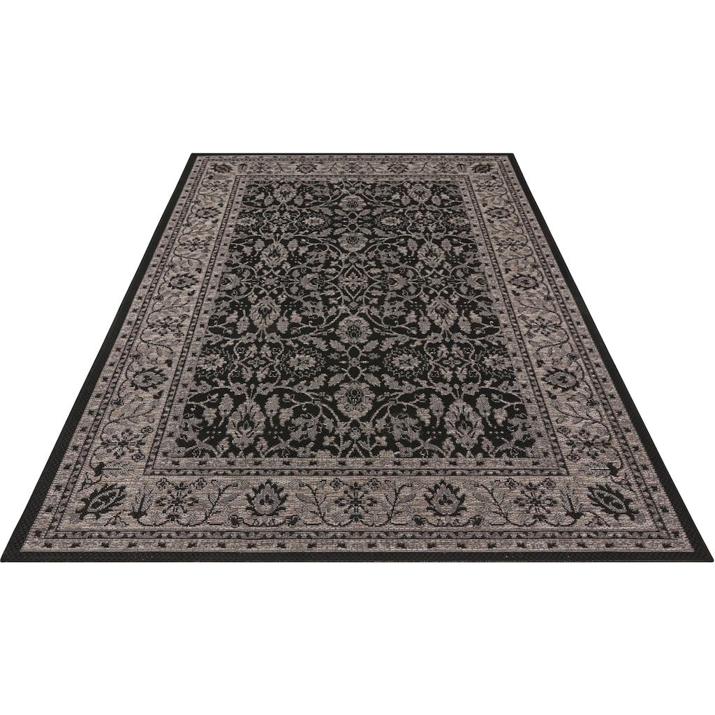 bougari Teppich »Konya«, rechteckig, 4 mm Höhe, Flachgewebe, Orient-Optik, In- und Outdoor geeignet, Wohnzimmer