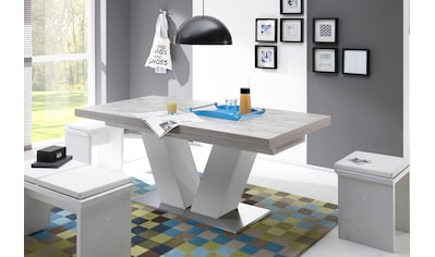 Esstisch »Komfort D«, mit V-Gestell in weiß und mit Auszugsfunktion, Breite 160-260 cm kaufen