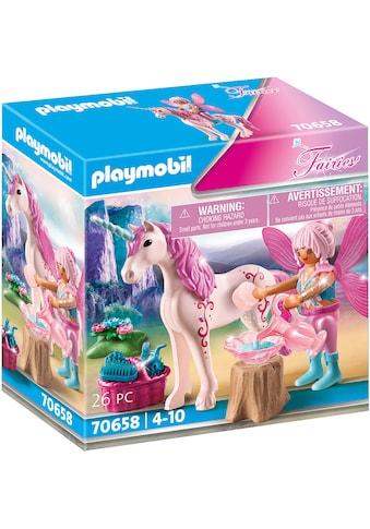 Playmobil® Konstruktions-Spielset »Einhorn mit Pflege-Fee (70658), Fairies«, Made in... kaufen
