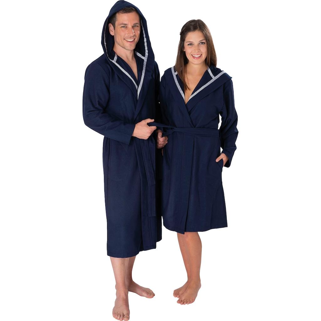 Wewo fashion Unisex-Bademantel »3900«, (1 St., mit Gürtel), mit Soft Touch