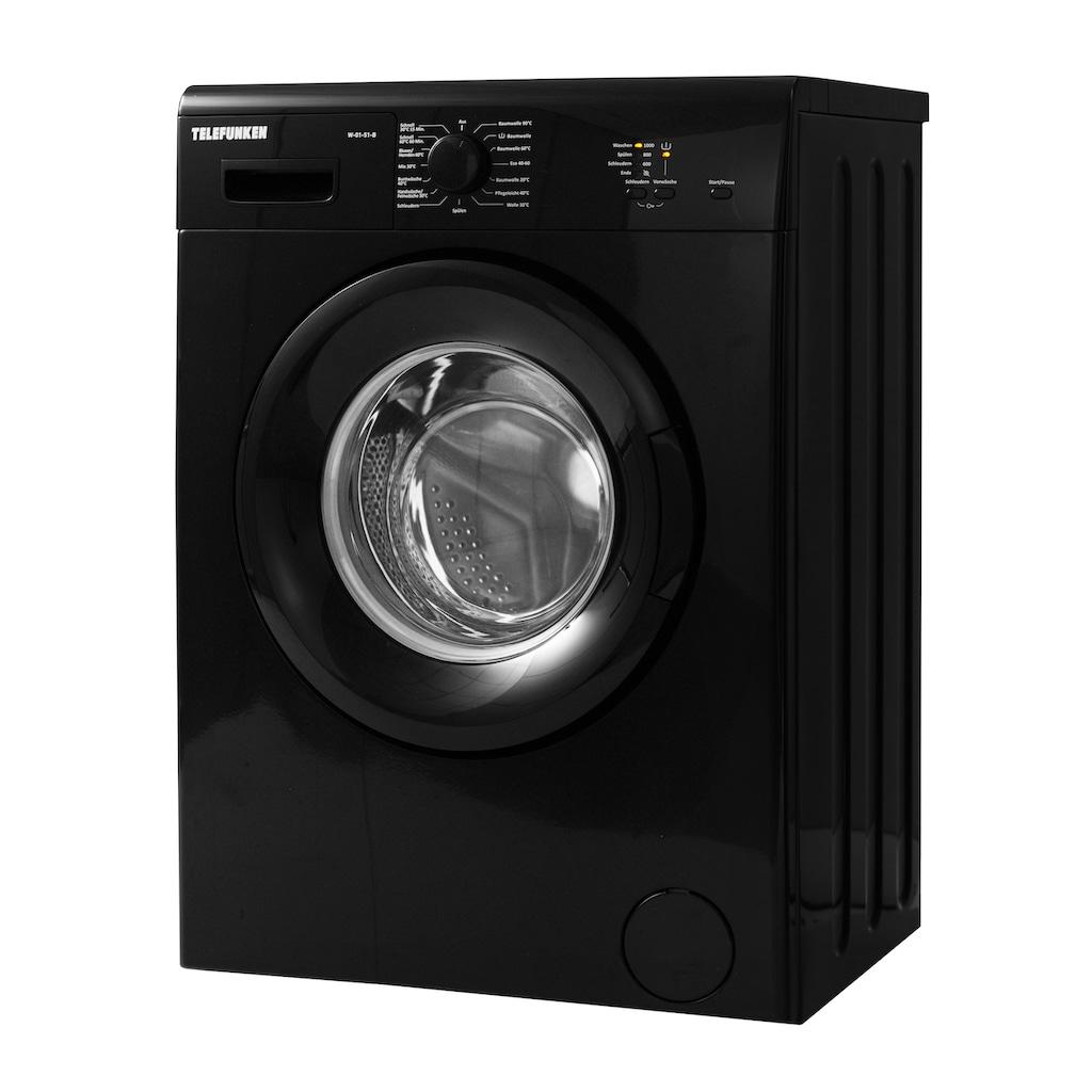 Telefunken Waschmaschine »W-01-51-B«, W-01-51-B, 5 kg, 1000 U/min, (5 kg / schwarz)
