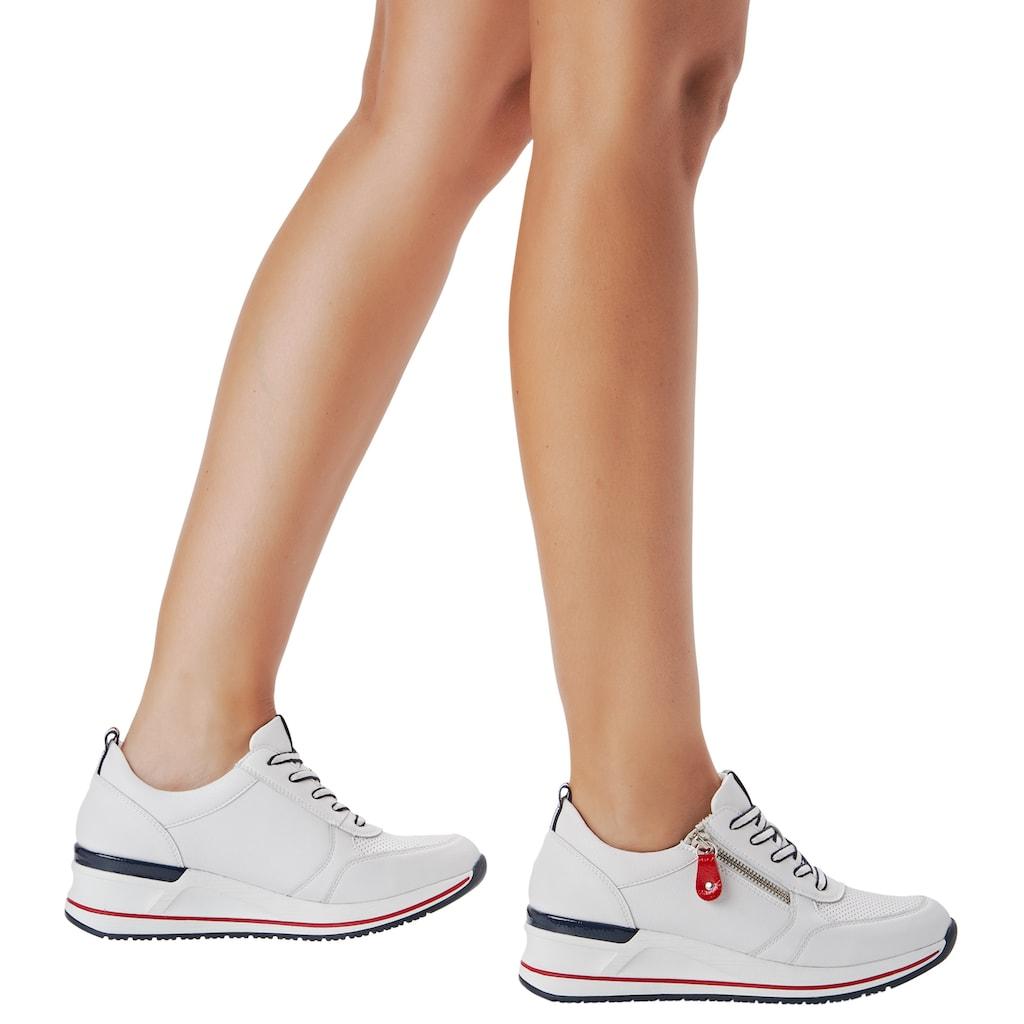 Remonte Wedgesneaker, mit feiner Perforation