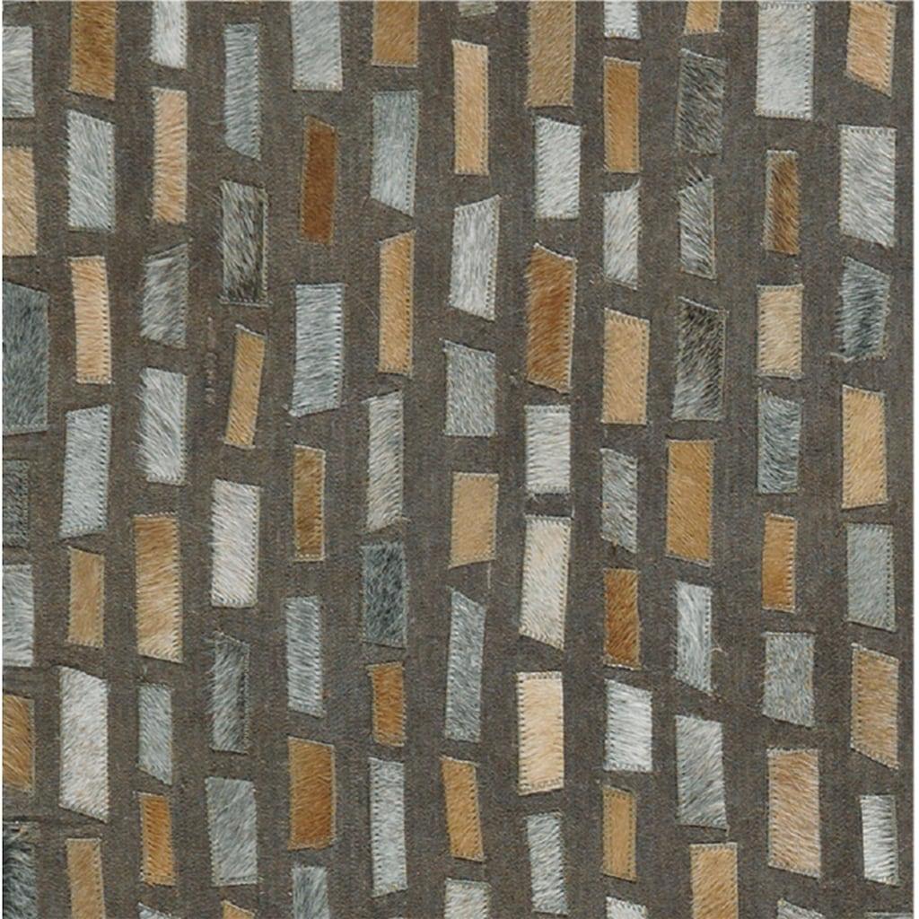 Arte Espina Teppich »Wild 8022«, rechteckig, 8 mm Höhe, mit Leder Anteil, Wohnzimmer