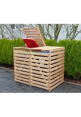 promadino Mülltonnenbox »Vario V«, für 2 x 240 l, holzfarben kaufen