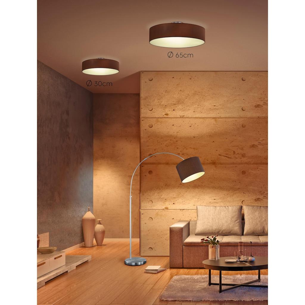 TRIO Leuchten Deckenleuchte »HOTEL«, E14, Deckenlampe Ø 30 cm mit Stoff-Schirm